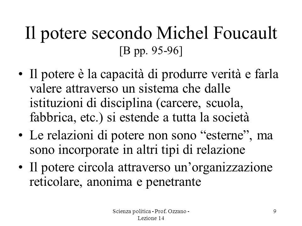 Il potere secondo Michel Foucault [B pp. 95-96]